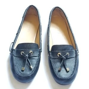Talbots Black Leather Driving  Loafers